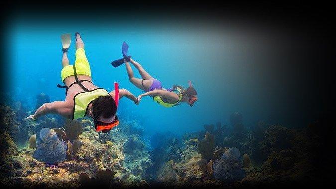 Snorkel equipement underwater