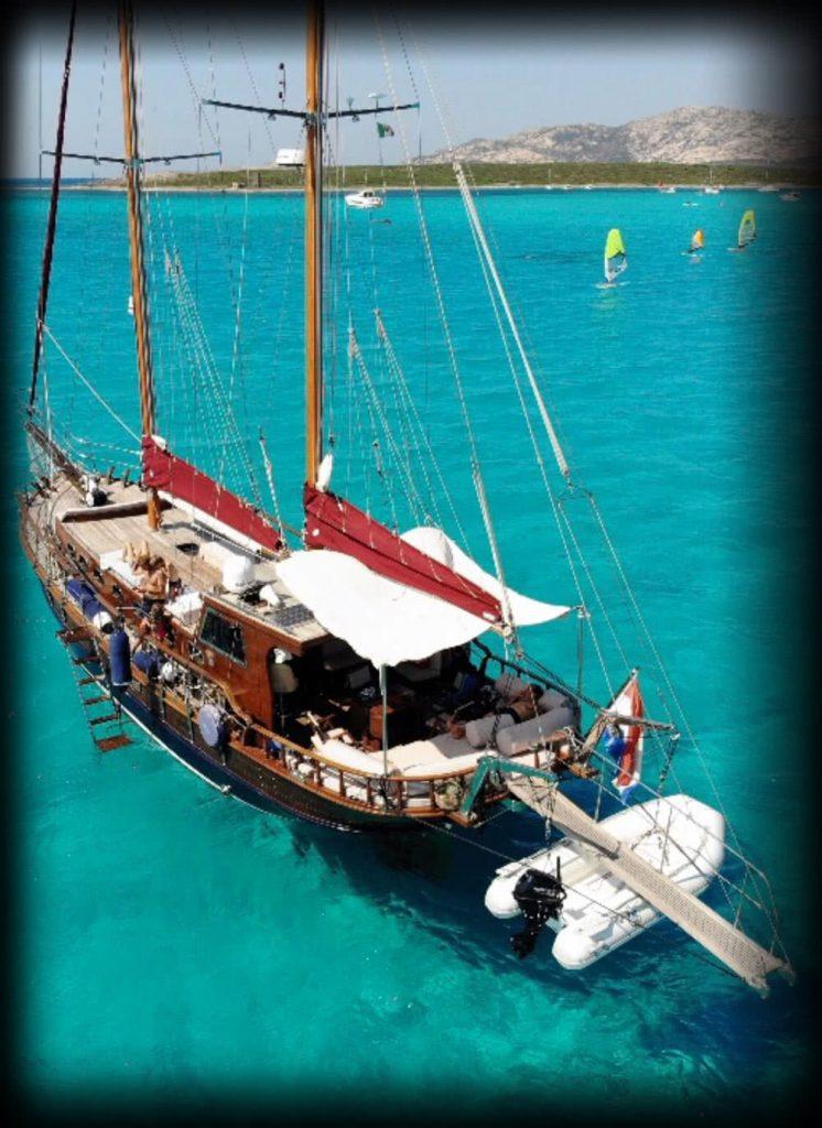 Melisa Sailing in blue water